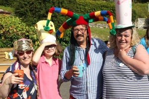 Mad Hatter's Tea Party at Summerfest with good friends from St Stephen's - great fun!